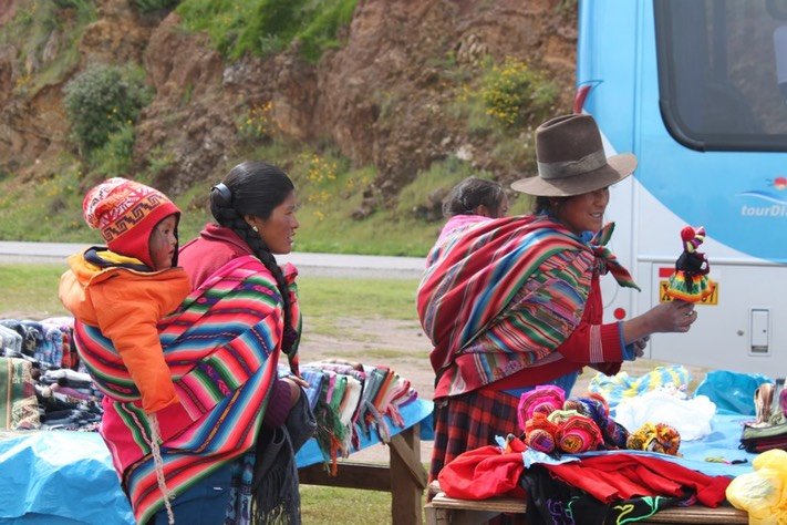 Beautiful people of the Andes always selling us things